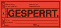 Papieranhänger: Gesperrt - VE = 100 Stk.