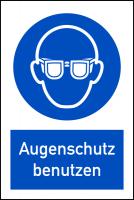 Kombischild, Augenschutz benutzen - DIN EN ISO 7010