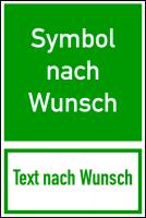 Rettungszeichen, Kombischild Rettungswegkennzeichnung nach Wunsch