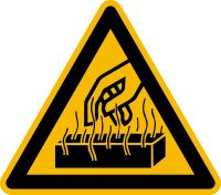 Warnzeichen, Warnung vor heißen Werkstoffen - praxisbewährt
