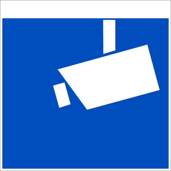 Hinweisschild, Symbol Videoüberwachung - DIN 33450