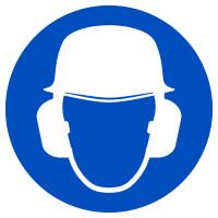Gebotszeichen, Kopf- und Gehörschutz benutzen - praxisbewährt