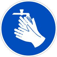 Gebotszeichen, Hände waschen - praxisbewährt