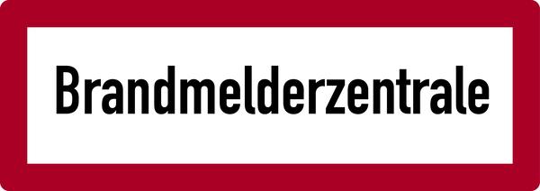 Brandschutzzeichen, Brandmelderzentrale - DIN 4066