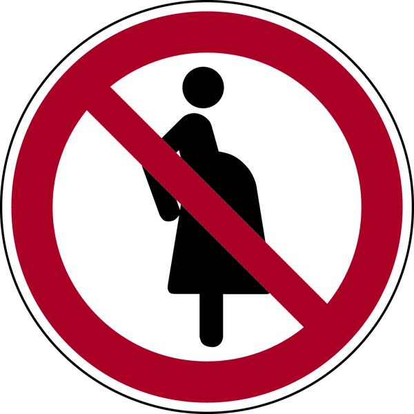 Verbotszeichen, Für schwangere Frauen verboten P042 - ASR A1.3 (DIN EN ISO 7010)