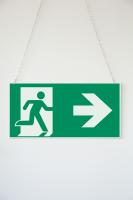 Rettungszeichen, Notausgang doppelseitig - ASR A1.3 (DIN EN ISO 7010)