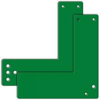 Montageplatte für Türwächter an Glasrahmentüren