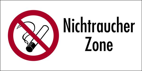 Kombischild, Nichtraucher Zone doppelseitig