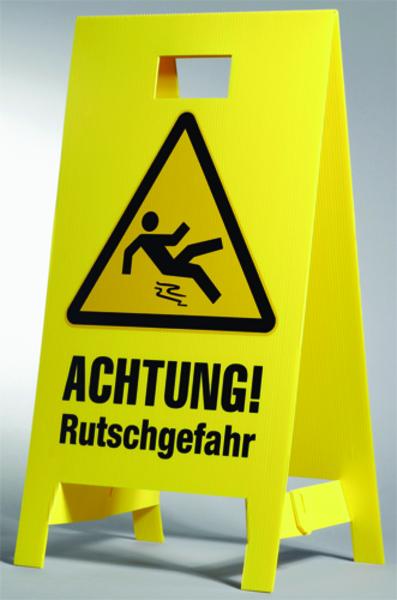 Warnaufsteller - Faltsignale - Schachtabsperrungen