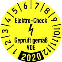 Jahresprüfplakette, geprüft gem. VDE Ø 30mm - VE = 10 Plaketten