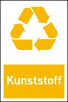 Design-Recyclingschild: Kunststoff, Folie selbstklebend, 150 x 100 mm