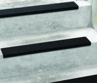 Antirutsch Treppenkantenprofil, Safety-Stair, schwarz, Edelstahl, R13