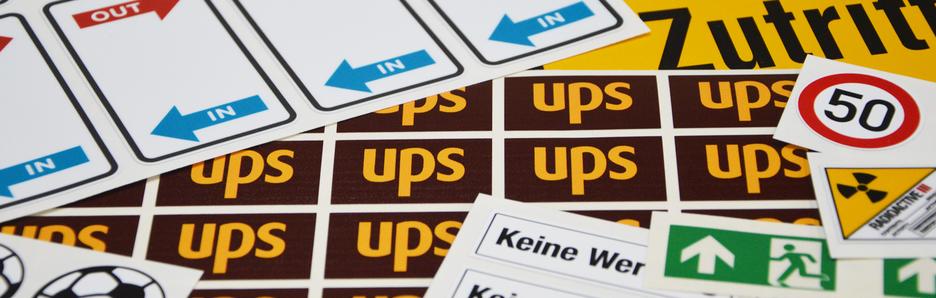 Produkte - Individuelle Etiketten, Aufkleber und Logos auf selbstklebender Folie - verschiedene Formen