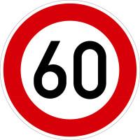 Verkehrszeichen - Zulässige Höchstgeschwindigkeit, Zeichen 274