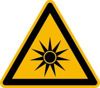 Warnzeichen, Warnung vor optischer Strahlung W027 - ASR A1.3 (DIN EN ISO 7010)