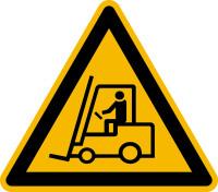 Warnzeichen, Warnung vor Flurförderzeugen D-W007 - DIN 4844/BGV A8