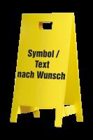 Warnaufsteller, Symbol und Text nach Wunsch, 650 x 350 mm
