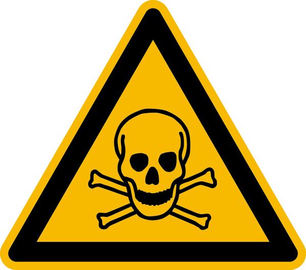 Warnzeichen, Warnung vor giftigen Stoffen W016 - ASR A1.3 (DIN EN ISO 7010)