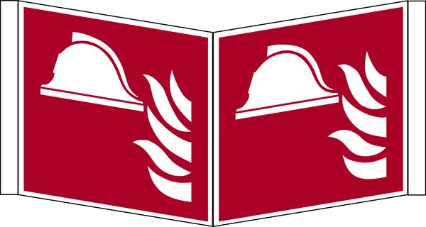 Brandschutzzeichen, Winkelschild Mittel und Geräte zur Brandbekämpfung F004 - ASR A1.3 (ISO 7010)