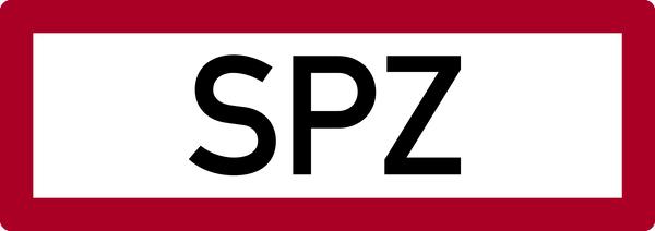 Brandschutzzeichen, SPZ (Sprinklerzentrale) - DIN 4066