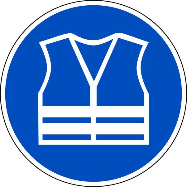Praxisbewährtes Gebotszeichen Warnweste benutzen