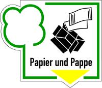 Abfallkennzeichen, Papier und Pappe, Folie