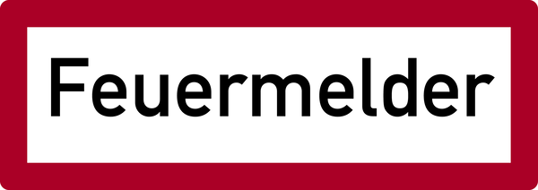 Brandschutzzeichen, Feuermelder - DIN 4066
