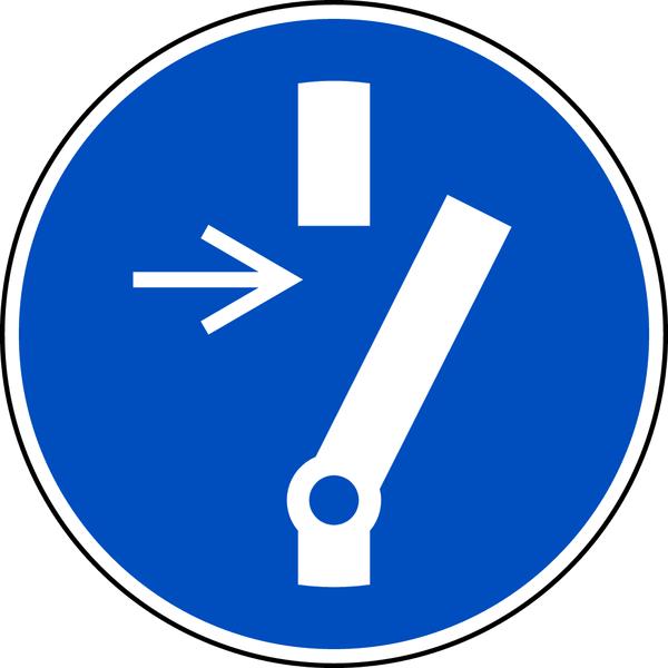 Gebotszeichen, Vor Wartung oder Reparatur freischalten M021 - ASR A1.3 (DIN EN ISO 7010)