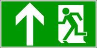 Rettungszeichen, Notausgang geradeaus - DIN 4844