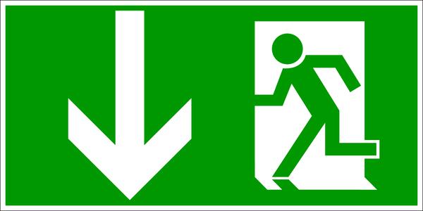 Rettungszeichen gem. DIN 4844