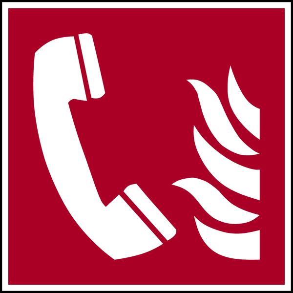 Brandschutzzeichen, Brandmeldetelefon F006 - ASR A1.3 (DIN EN ISO 7010)