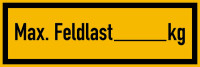 Regalbelastungsaufkleber, Max. Feldlast - zur Selbstbeschriftung