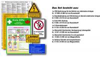 Kennzeichnungs-Set für elektrische Anlagen inkl. DIN ISO 7010 Schilder