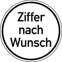 Geschwindigkeitsschild gemäß StVZO, Zahlen nach Wunsch, Ø 200 mm, Folie/Aluminium