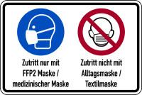 Kombischild, FFP2 Maske / Alltagsmaske, 200 x 300 mm