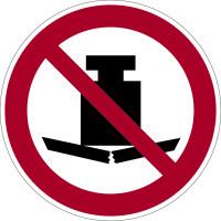 Verbotsschild, Keine schwere Last P012 - ASR A1.3 (DIN EN ISO 7010)