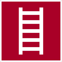 Brandschutzzeichen, Leiter D-F004 - DIN 4844