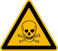 Warnzeichen, Warnung vor giftigen Stoffen D-W003 - DIN 4844/BGV A8