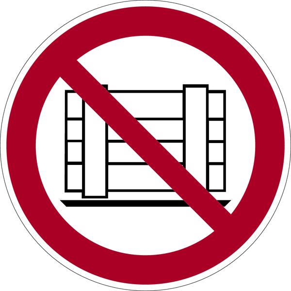 Verbotszeichen, Abstellen oder Lagern verboten P023 - ASR A1.3 (DIN EN ISO 7010)