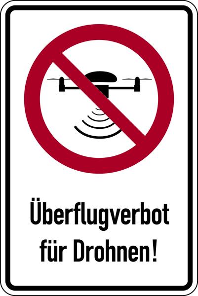 Kombischild, Überflugverbot Drohnen