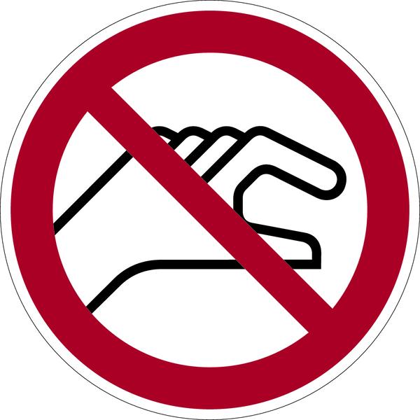 Verbotszeichen, Hineinfassen verboten D-P026 - DIN 4844