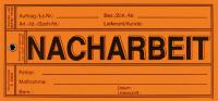 Papieranhänger: Nacharbeit - VE = 100 Stk.