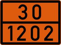 Gefahrguttafel, Diesel oder Heizöl, 300x400mm, Stahlblech