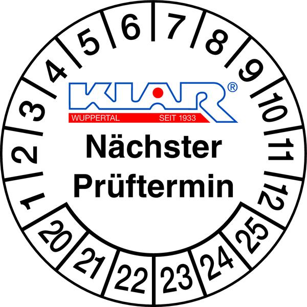 Prüfplakette, individuelle Gestaltung im Schildergenerator Ø 30mm - (VE = 100 Stk.)