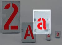 Signierschablonen, Zinkblech, Kleinbuchstaben - VE = Satz a - z