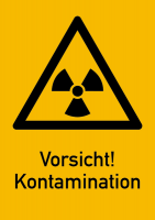 Warnschild Strahlenschutz Vorsicht! Kontamination (WS 140)