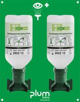 Augenspülstation, 2x 500 ml Natriumchloridlösung