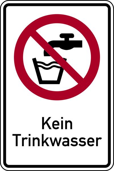 Kombischild, Kein Trinkwasser - ASR A1.3 (DIN EN ISO 7010)