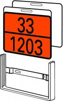 Wechselrahmen für Gefahrguttafeln und A-Schilder, 300x400mm, Stahl