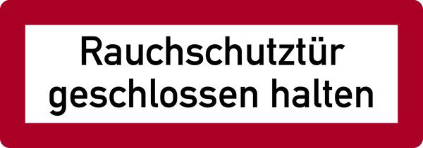 Brandschutzzeichen, Rauchschutztür geschlossen halten - DIN 4066
